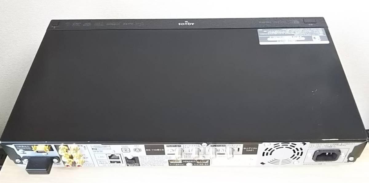送料込◆シャープ BD-T1100 大容量HDD:1TB トリプルチューナー 新品純正リモコン 動作良好_画像6