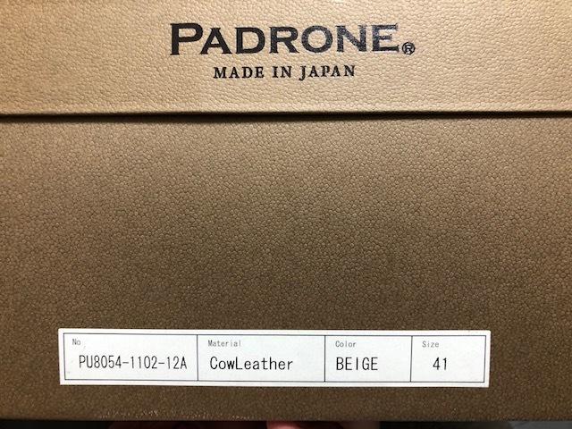 新品未使用 PADRONE パドローネ バックジップブーツ _画像8