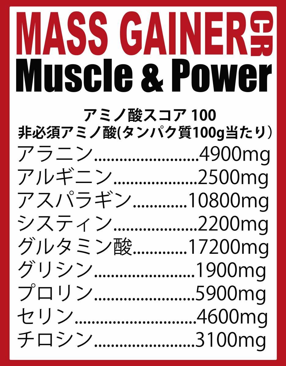 [1kg]マスゲイナーCR・ウエイトゲイナー・タンパク質・Wカーボ&クレアチン配合・ (ミルクチョコレート味) ホエイプロテイン 1kg 持久系_画像5