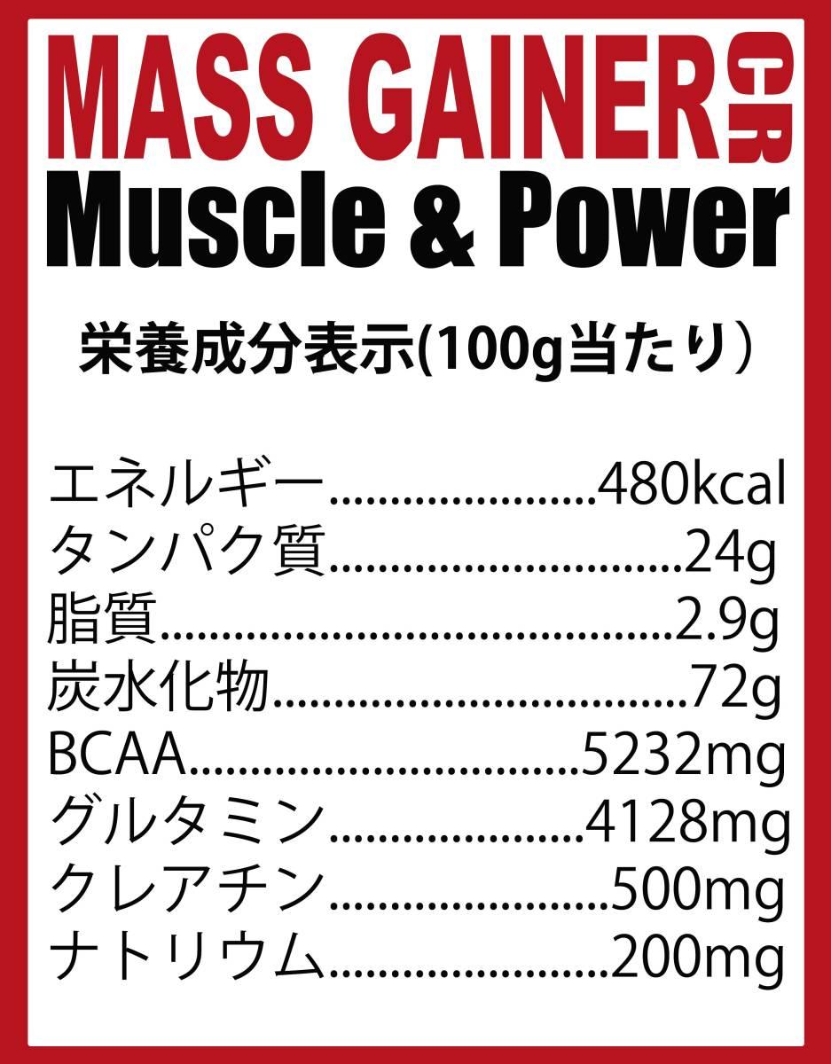 [1kg]マスゲイナーCR・ウエイトゲイナー・タンパク質・Wカーボ&クレアチン配合・ (ミルクチョコレート味) ホエイプロテイン 1kg 持久系_画像3