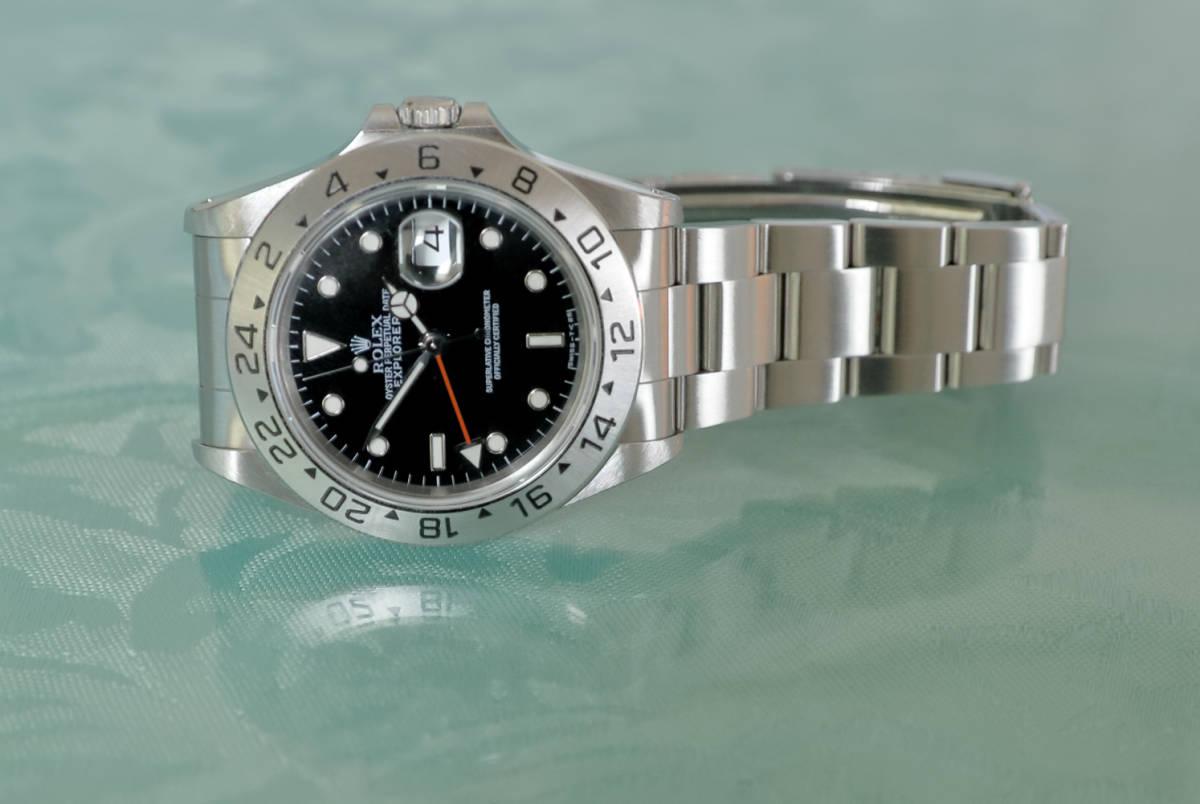 premium selection 87381 43c24 超美品 ROLEX エクスプローラーII 16570 GMT T番 人気のオールトリチウム 最後の40mmサイズ 防水100m