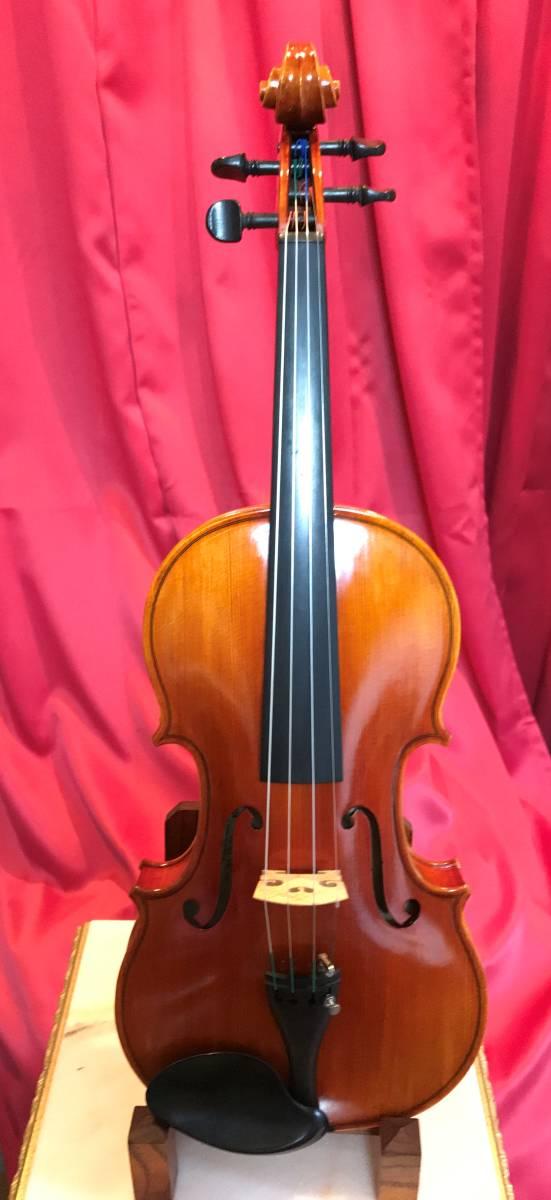 初心者の方お買得 スズキバイオリン1985年 美品 NO520 単板削出し手工品 ドイツオールド弓 カーボンケース新品 肩当 松脂 送料無料