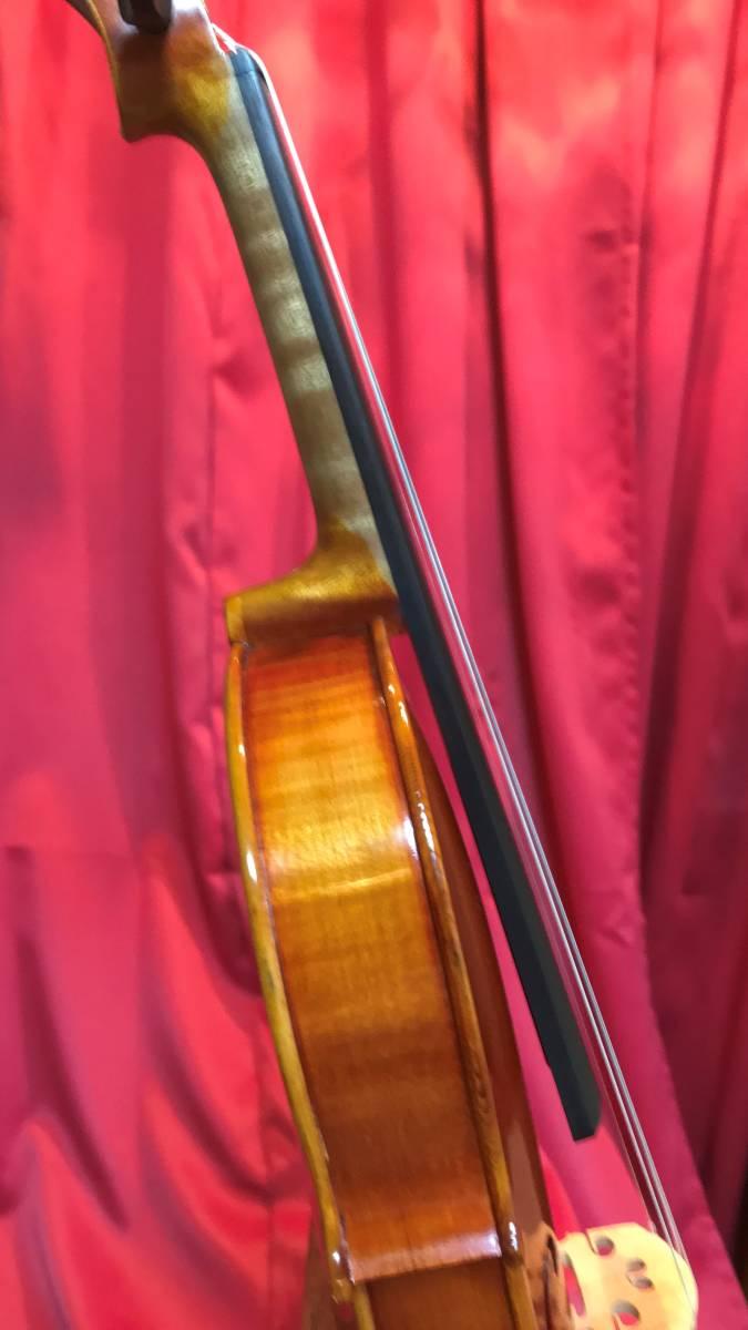 初心者の方お買得 スズキバイオリン1985年 美品 NO520 単板削出し手工品 ドイツオールド弓 カーボンケース新品 肩当 松脂 送料無料_画像6