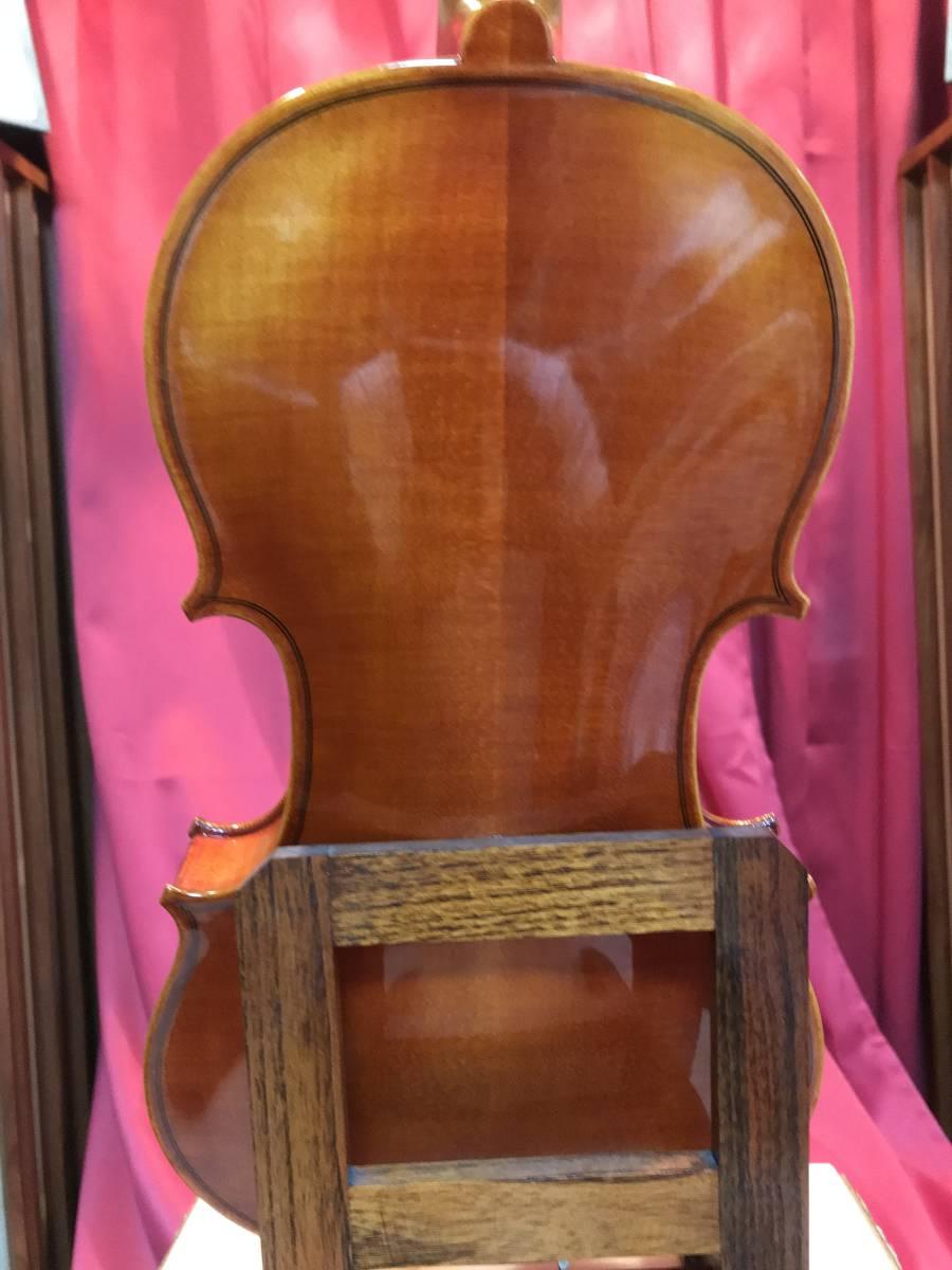 初心者の方お買得 スズキバイオリン1985年 美品 NO520 単板削出し手工品 ドイツオールド弓 カーボンケース新品 肩当 松脂 送料無料_画像5