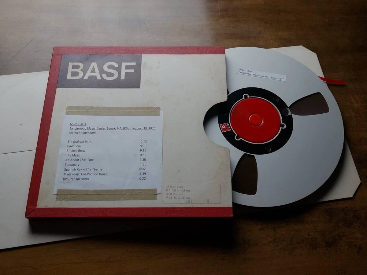 "Used★2TR38cm【Basf LP35 LH】1/4""×3600ft Non-Coated AudioTape★w/Metal Reel★10号オープンリール"