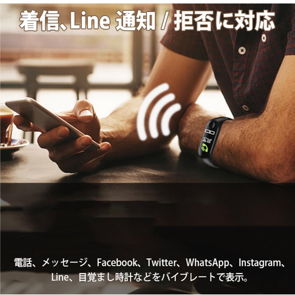 新品!SMW-BKスマートウォッチ 2019最新版 血圧計 心拍計 歩数計 IP67完全防水 スマートブレスレット iphone/Android 本体色 黒_画像7