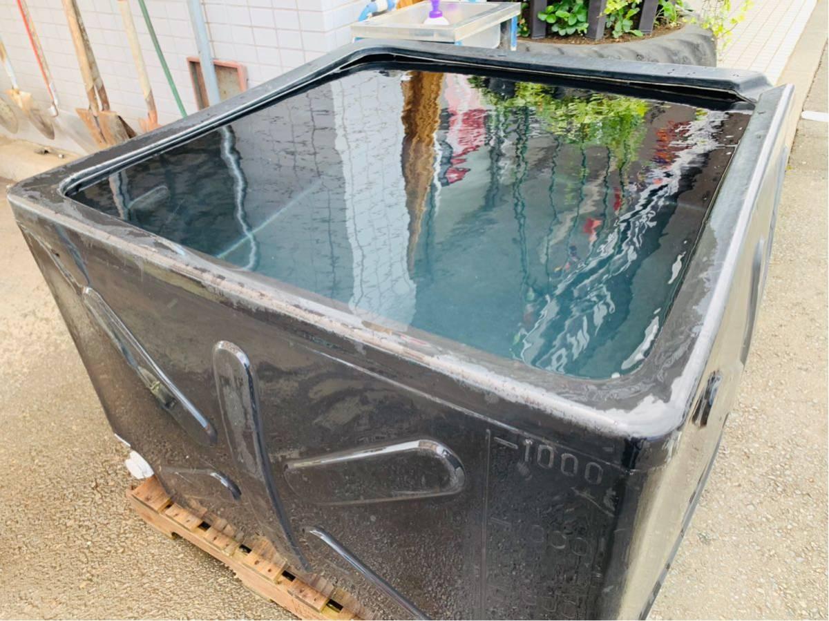 岩手 現状 売切り 水タンク 1000L 貯水 ウォータータンク ブラック 中古【C060120】 BMトレーディング水沢_画像2