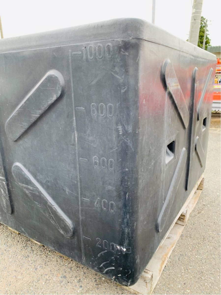 岩手 現状 売切り 水タンク 1000L 貯水 ウォータータンク ブラック 中古【C060120】 BMトレーディング水沢_画像5