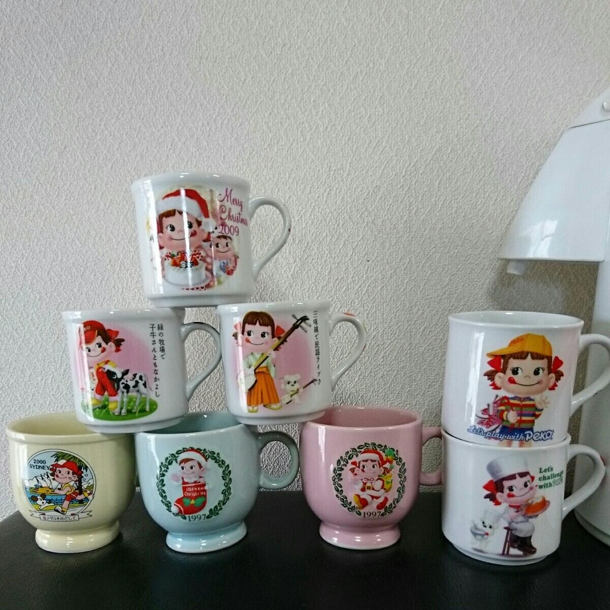 非売品 レア ペコちゃん ポット タイガーエアーポット 魔法瓶 マグカップ _画像6