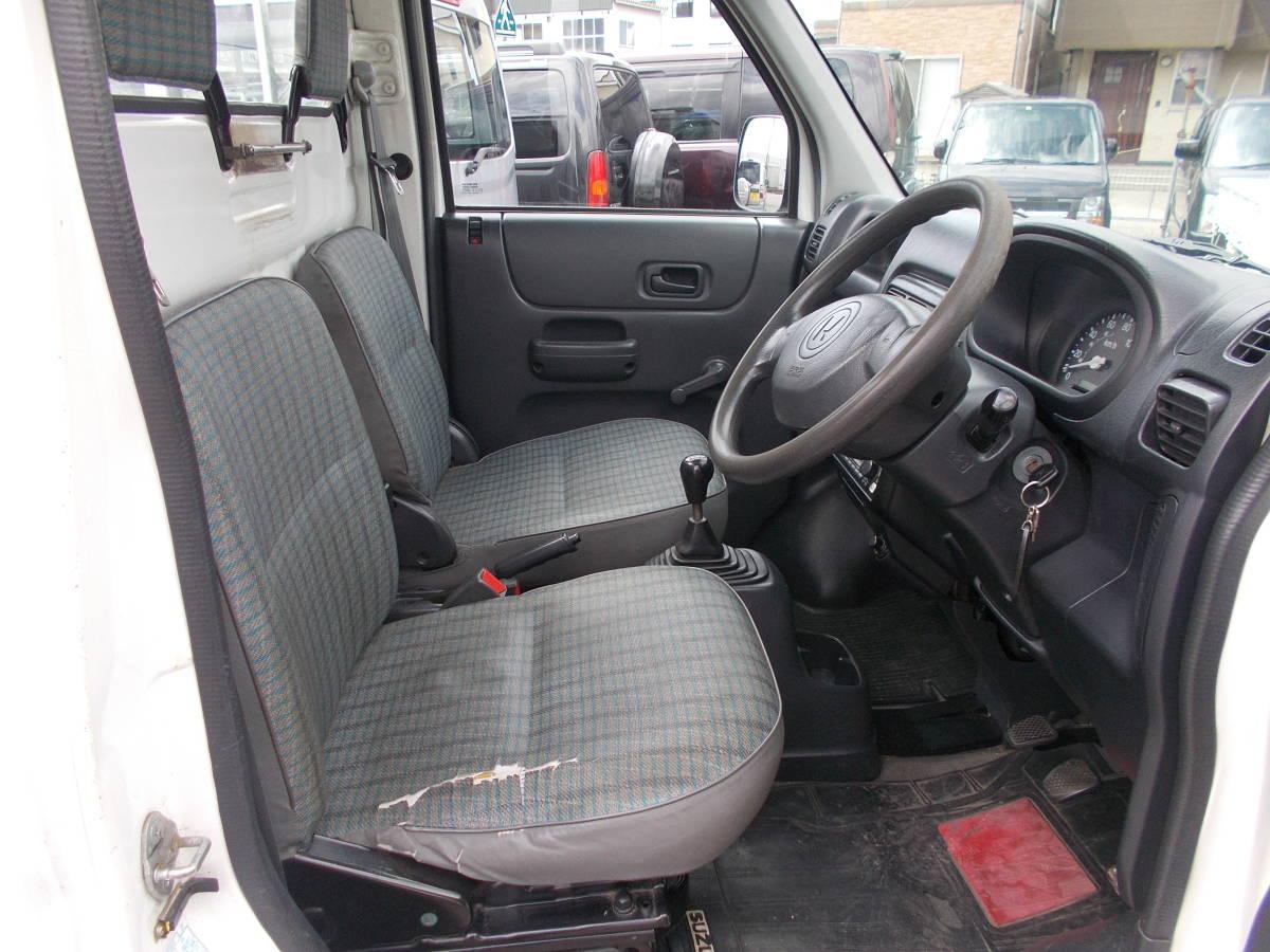 新潟 13年アクテイトラック HA7 4WD 5MT パワステ エアコン ウインチ付き(有線リモコン付き) タイベル交換済み_画像10