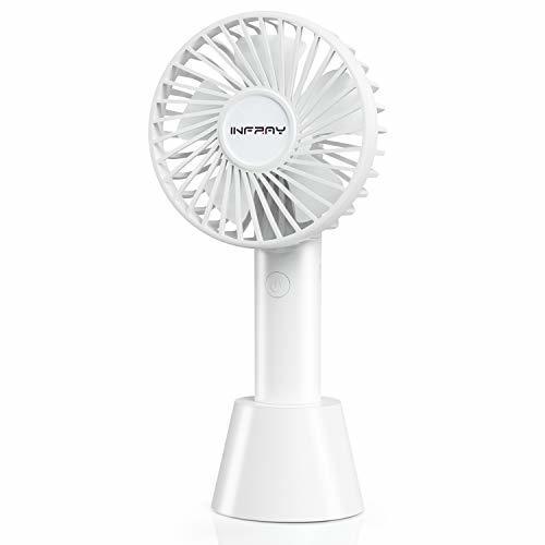 ■複数セール■ おひとり様1点まで! 携帯扇風機ホワイト ミニ扇風機 充電式 ハンディファン 手持ち扇風機 ベース台付 首3階段調整可能