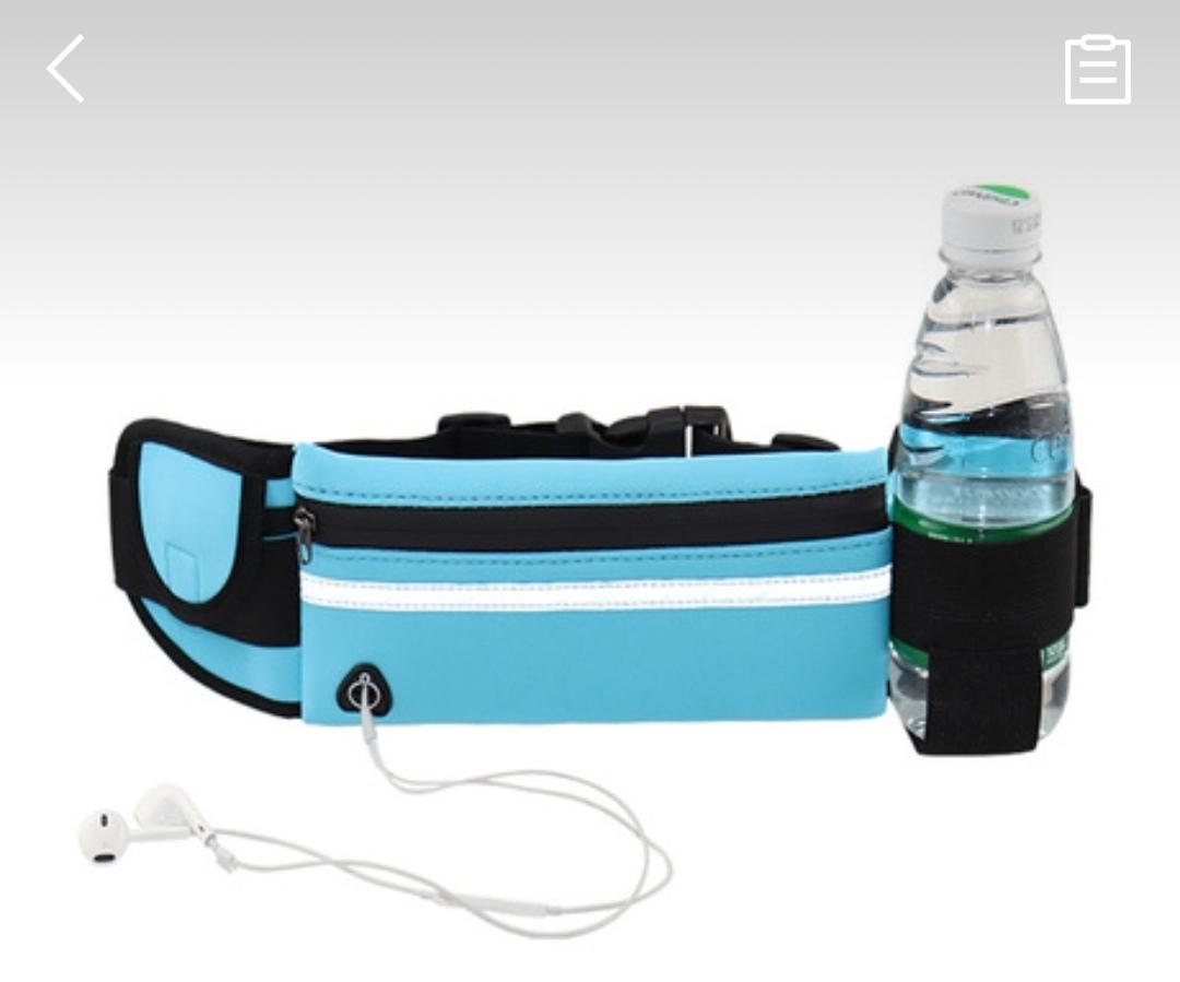 ランニングポーチ オレンジ 防水 ウエストポーチ ウエストバッグ ランニングバッグ ウォーキング 揺れない スマホ iPhone XS Max