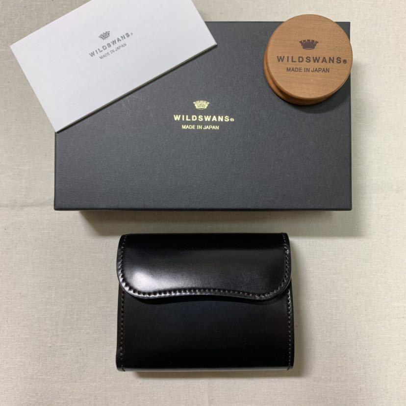 新品同様 WILDSWANS シェルコードバン ENO 二つ折り財布 ワイルドスワンズ イーノ ホーウィン社