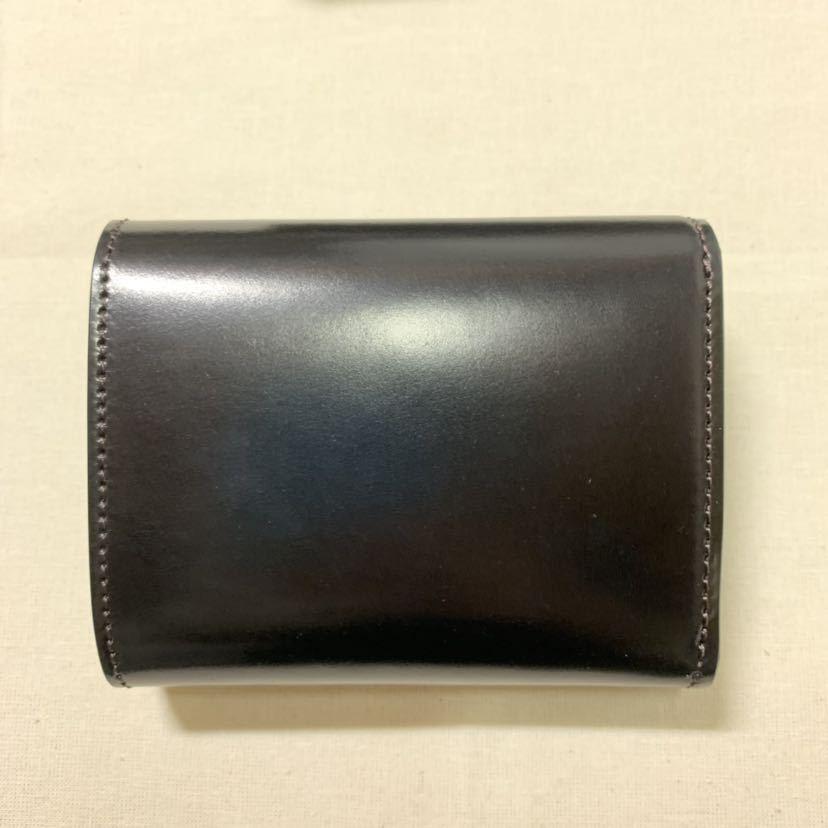 新品同様 WILDSWANS シェルコードバン ENO 二つ折り財布 ワイルドスワンズ イーノ ホーウィン社_画像3