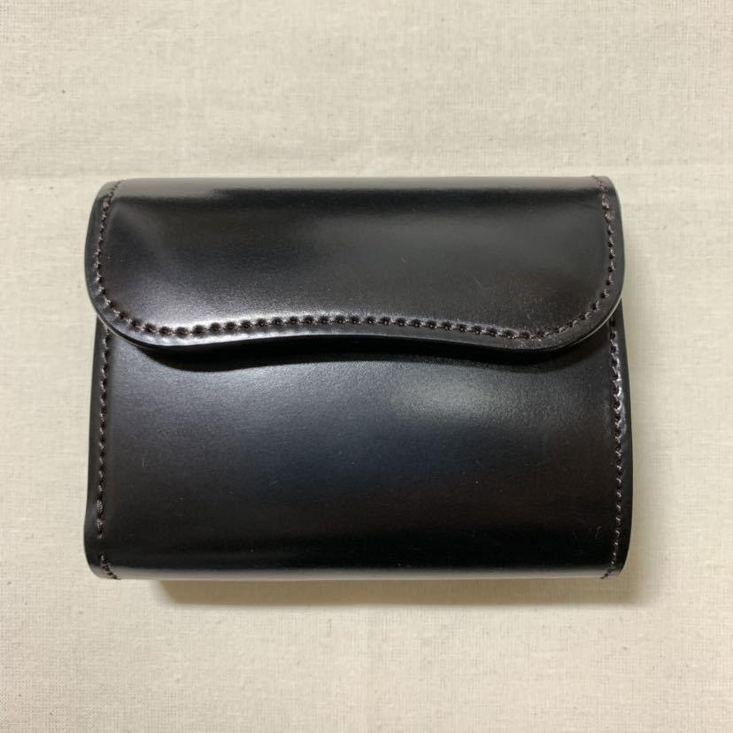 新品同様 WILDSWANS シェルコードバン ENO 二つ折り財布 ワイルドスワンズ イーノ ホーウィン社_画像2