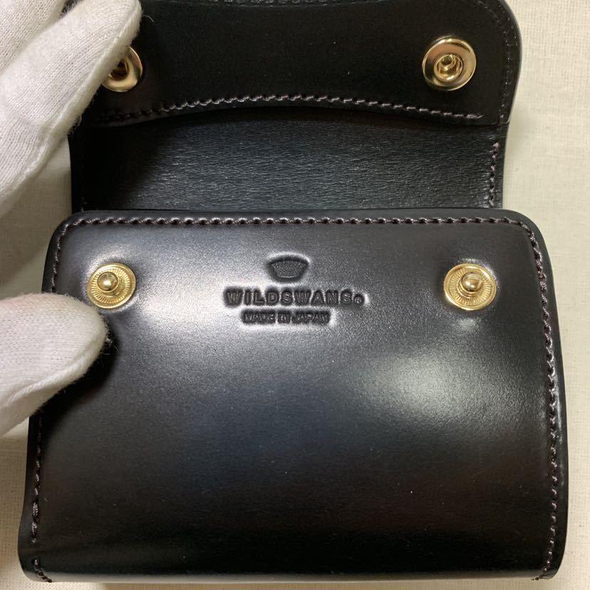 新品同様 WILDSWANS シェルコードバン ENO 二つ折り財布 ワイルドスワンズ イーノ ホーウィン社_画像4