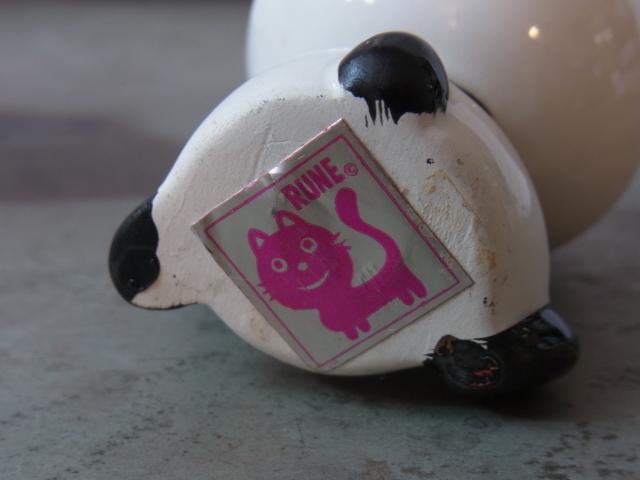蔵出◆ 磁器人形 ルネパンダ3 内藤ルネ RUNE ◆ 当時物 人形 昭和レトロ オブジェ アート_画像5