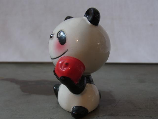 蔵出◆ 磁器人形 ルネパンダ3 内藤ルネ RUNE ◆ 当時物 人形 昭和レトロ オブジェ アート_画像2