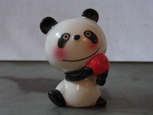 蔵出◆ 磁器人形 ルネパンダ3 内藤ルネ RUNE ◆ 当時物 人形 昭和レトロ オブジェ アート