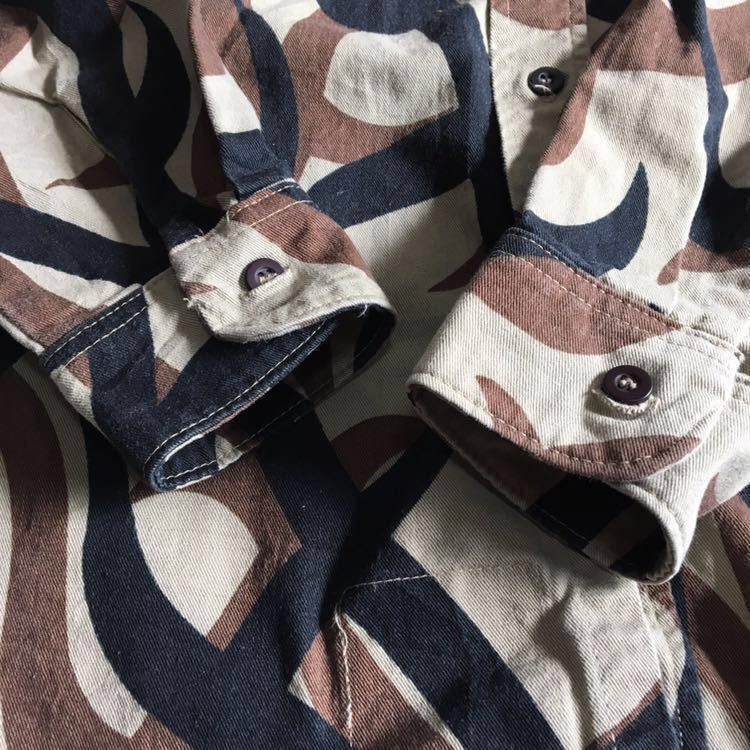 90s ASAT トライバル カモ 迷彩 シャツ ビンテージ USA製 ミリタリー アウトドア 古着 90年代 米軍 ワーク 希少 アメリカ軍_画像6