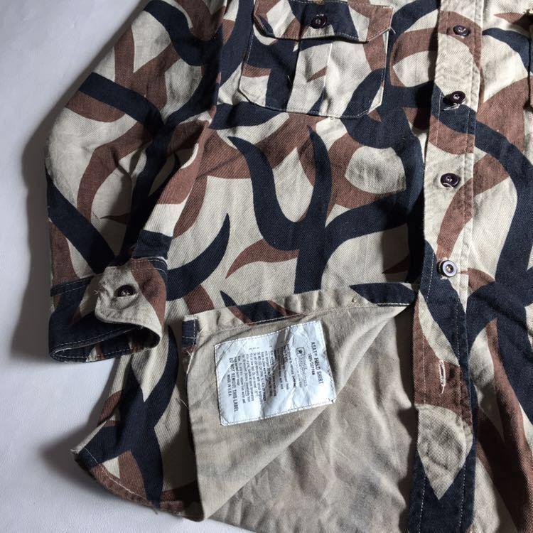 90s ASAT トライバル カモ 迷彩 シャツ ビンテージ USA製 ミリタリー アウトドア 古着 90年代 米軍 ワーク 希少 アメリカ軍_画像5