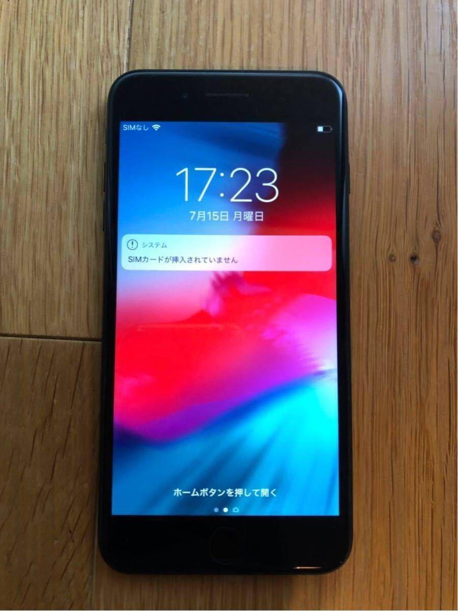 【1円】Apple iPhone7 Plus 128GB ブラック A1785 MN6F2J/A バッテリ86%■au