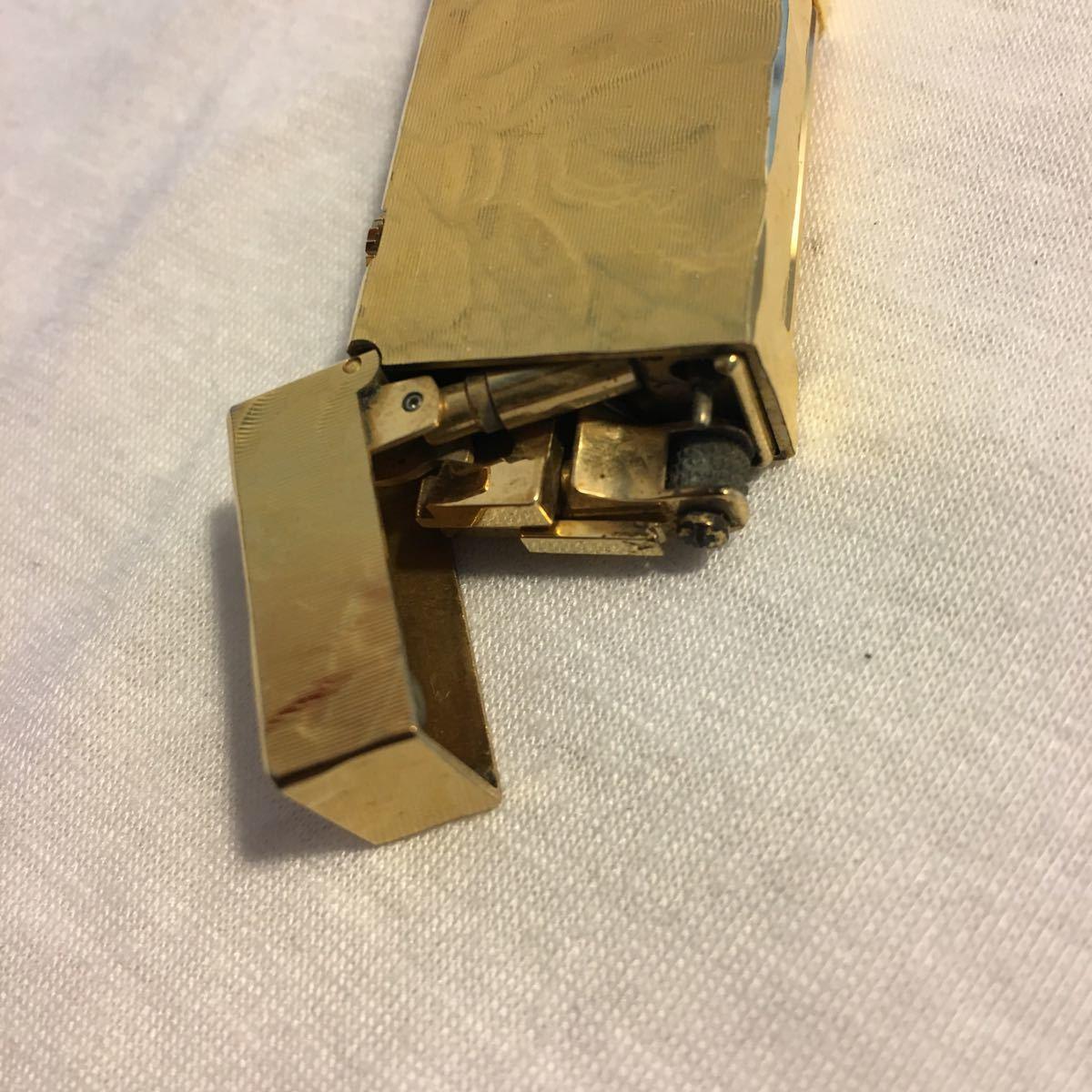 ダンヒルライター 総重量 約77.62g ゴールド ガスライター ブランド コレクション dunhill swiss made_画像10
