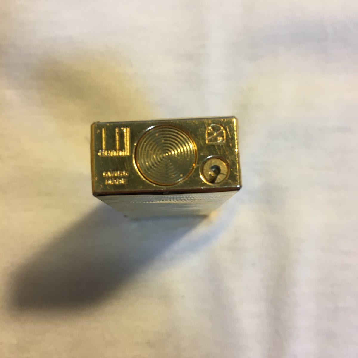 ダンヒルライター 総重量 約77.62g ゴールド ガスライター ブランド コレクション dunhill swiss made_画像5