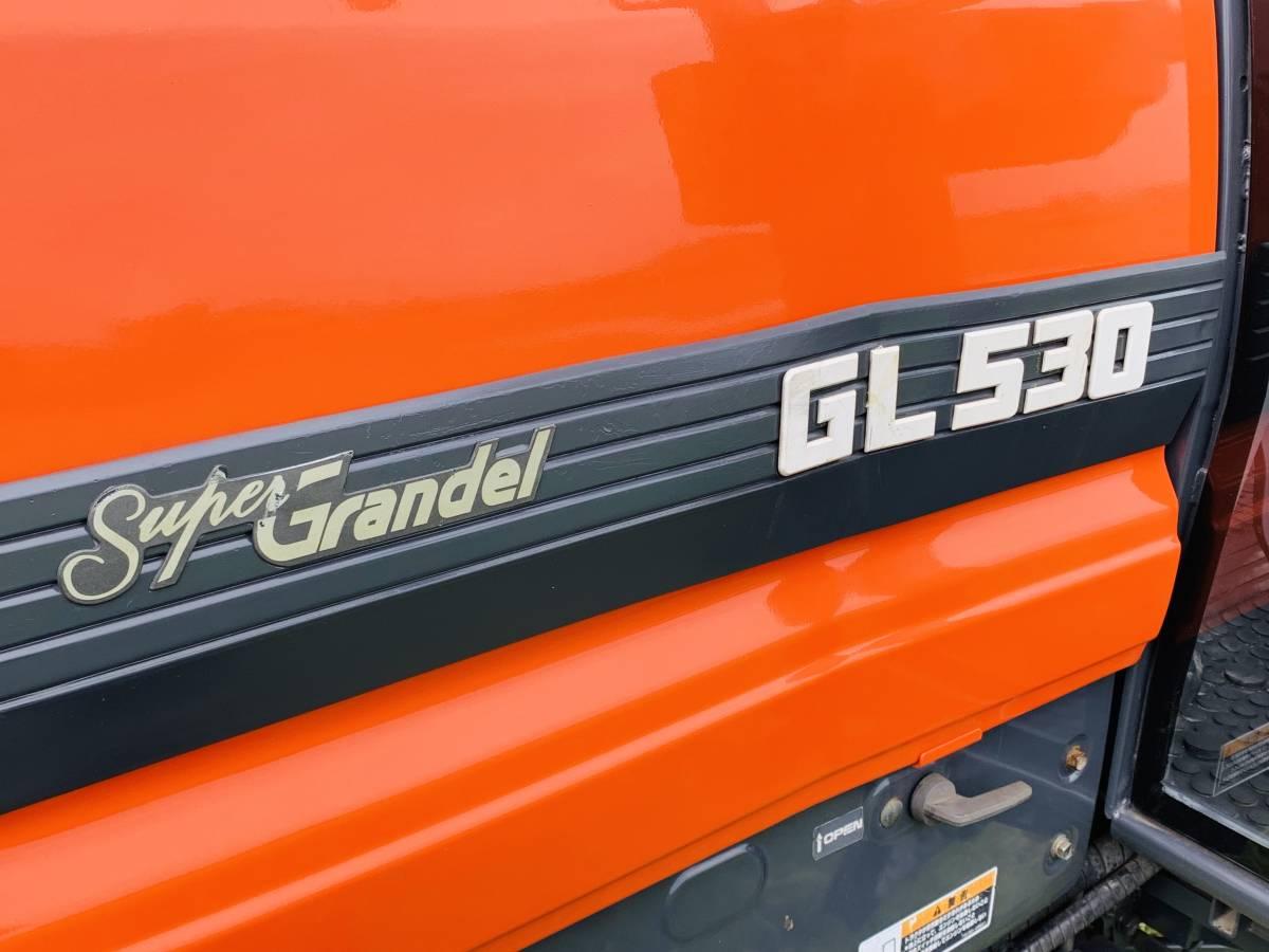 クボタGL530スーパーグランデル53馬力 エアコンキャビン付き 中古 トラクターです。_画像5