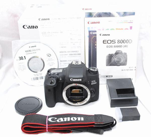 【極上美品・メーカー保証書等完備】Canon キヤノン EOS 8000D