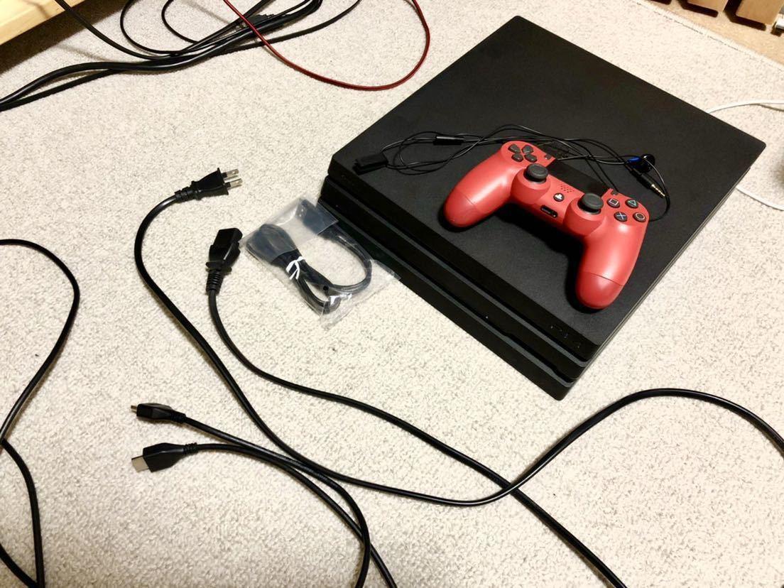 ★ 新品同様 PS4 proプレイステーション4 プロ CUH-7000B BO1 JB ★_画像2