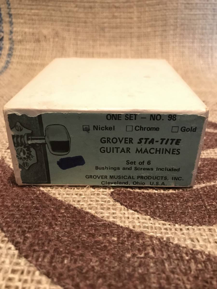 Vintage Grover Sta-Tite Tuners New Old Stock in Original Box. 1950's_画像5