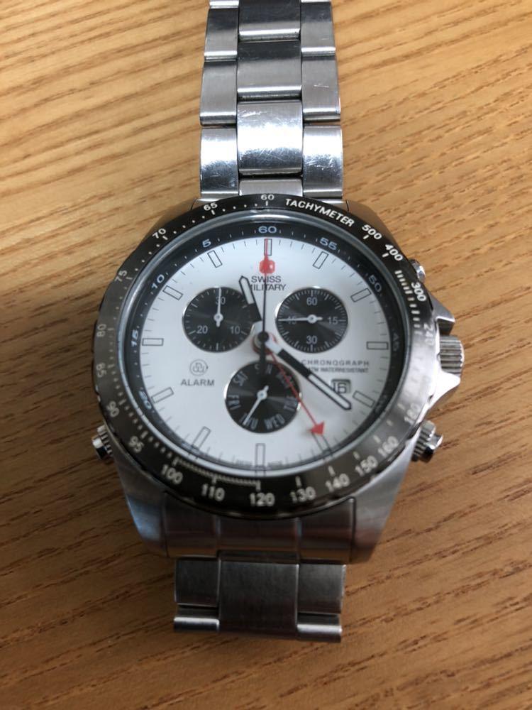 スイスミリタリー 腕時計 クロノグラフ _画像6
