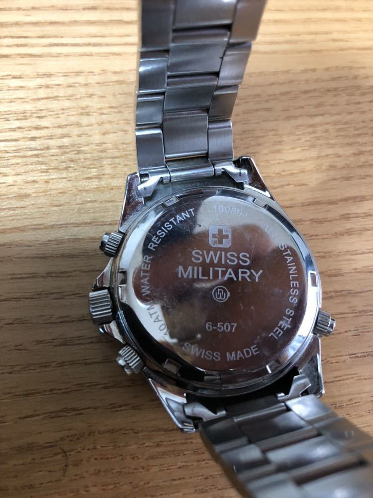 スイスミリタリー 腕時計 クロノグラフ _画像7
