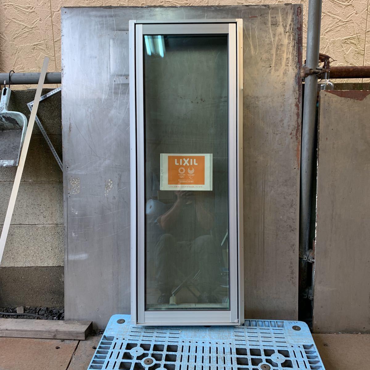 LIXIL アルミサッシ 縦すべり出し窓 シルバー 透明ペアガラス その2