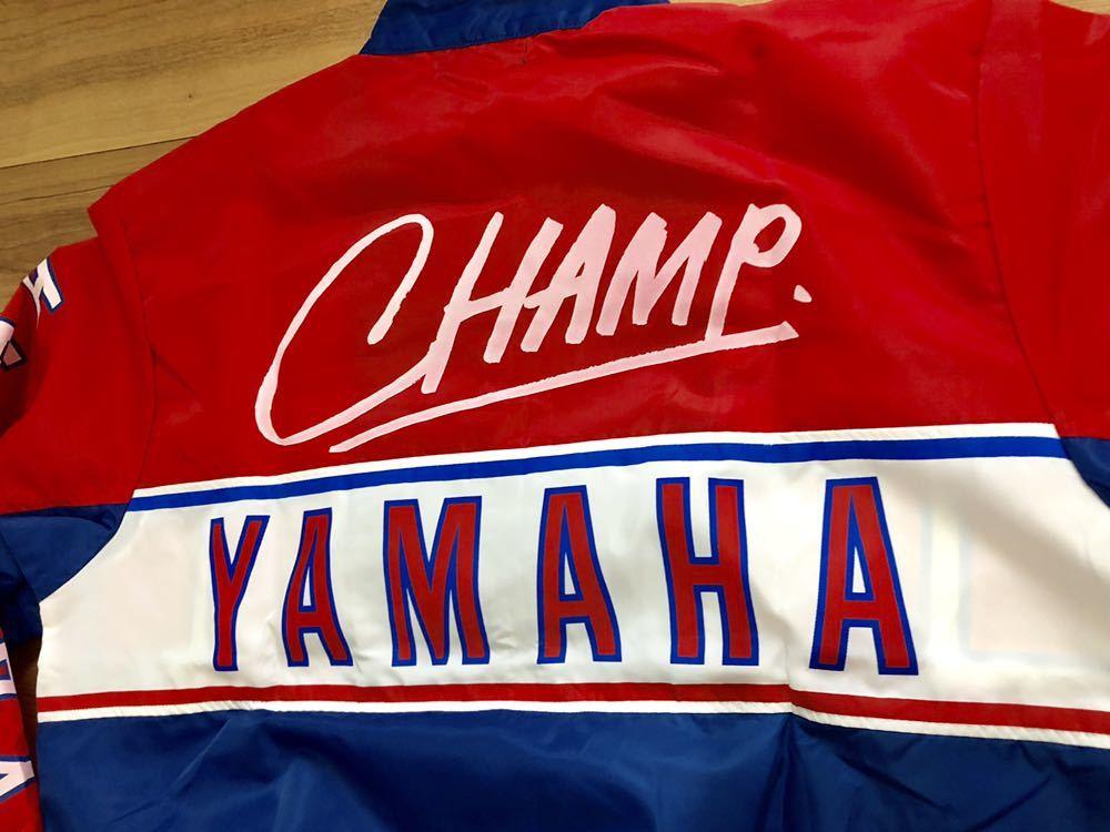 ヤマハ ジャケット TEAM YAMAHA チームヤマハ ヤマハレーシング ヤマハ ブルゾン 昭和 レトロ ヤマハ ビンテージ ヤマハ 80s レア_画像3