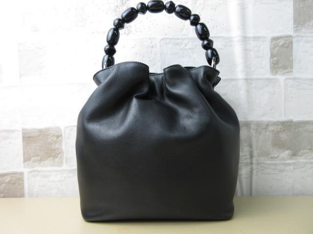 極美品(新品同様)■ディオール Christian Dior■ハンド バッグ CD ブラック レザー 希少鞄 ag3999_画像2