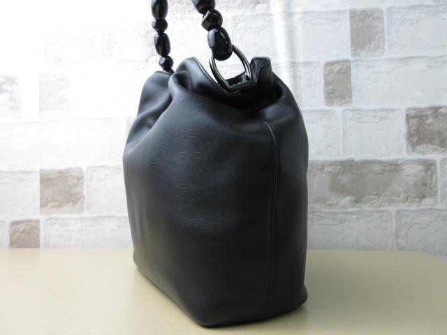 極美品(新品同様)■ディオール Christian Dior■ハンド バッグ CD ブラック レザー 希少鞄 ag3999_画像4