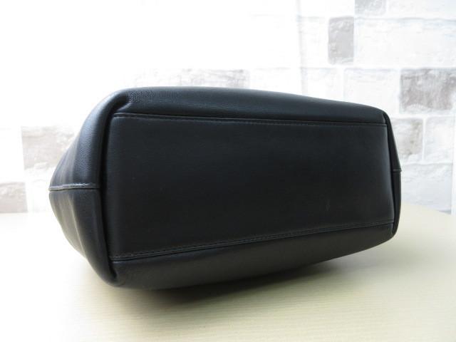 極美品(新品同様)■ディオール Christian Dior■ハンド バッグ CD ブラック レザー 希少鞄 ag3999_画像5