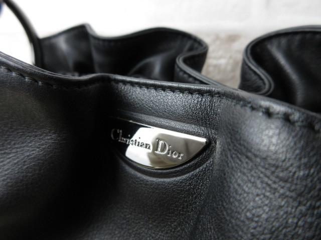 極美品(新品同様)■ディオール Christian Dior■ハンド バッグ CD ブラック レザー 希少鞄 ag3999_画像7