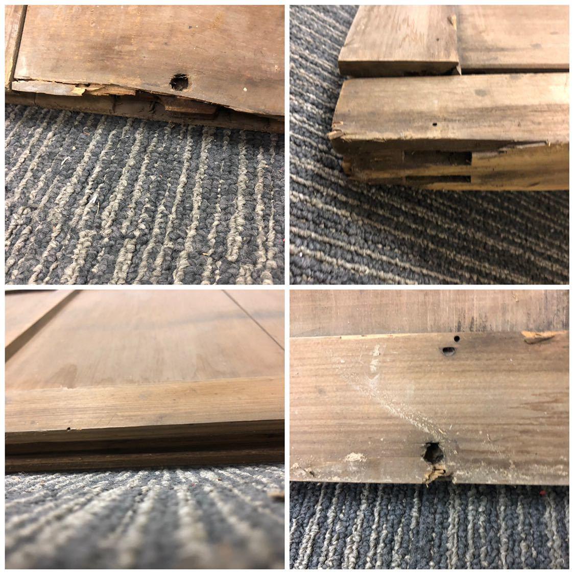 建具 引き戸 1枚 W120.9cm×D3.2cm×H182.5cm 木枠 古家 昭和 レトロ アンティーク インテリア 格安売り切りスタート☆_画像8