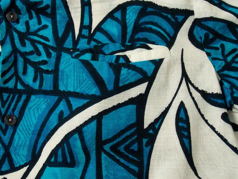 1970年代 MALIHINI コットン ハワイアンシャツ ビンテージ 古着 アロハシャツ マリヒニ_画像7