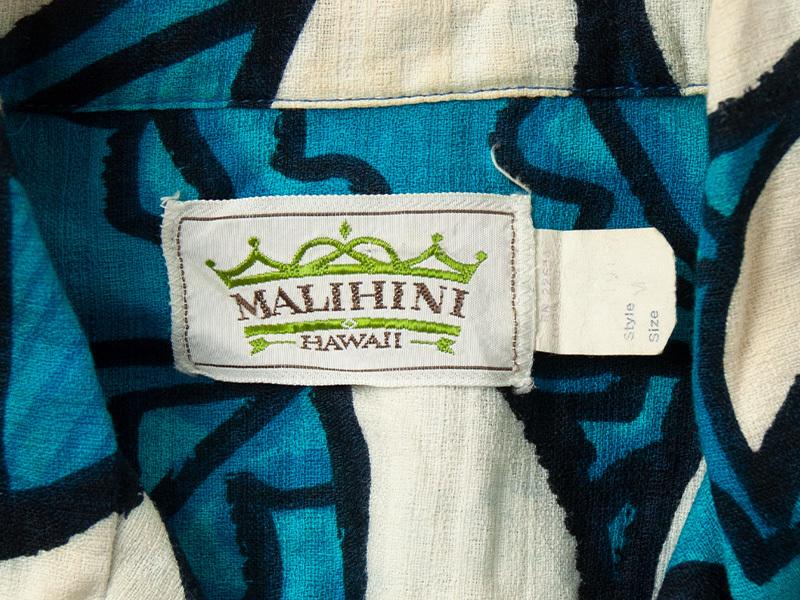 1970年代 MALIHINI コットン ハワイアンシャツ ビンテージ 古着 アロハシャツ マリヒニ_画像3