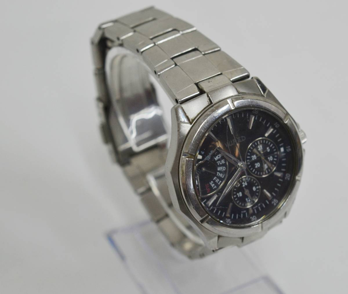 ◇◆SEIKO WIRED ワイアード クロノ 腕時計 7N0535 ジャンク_画像2