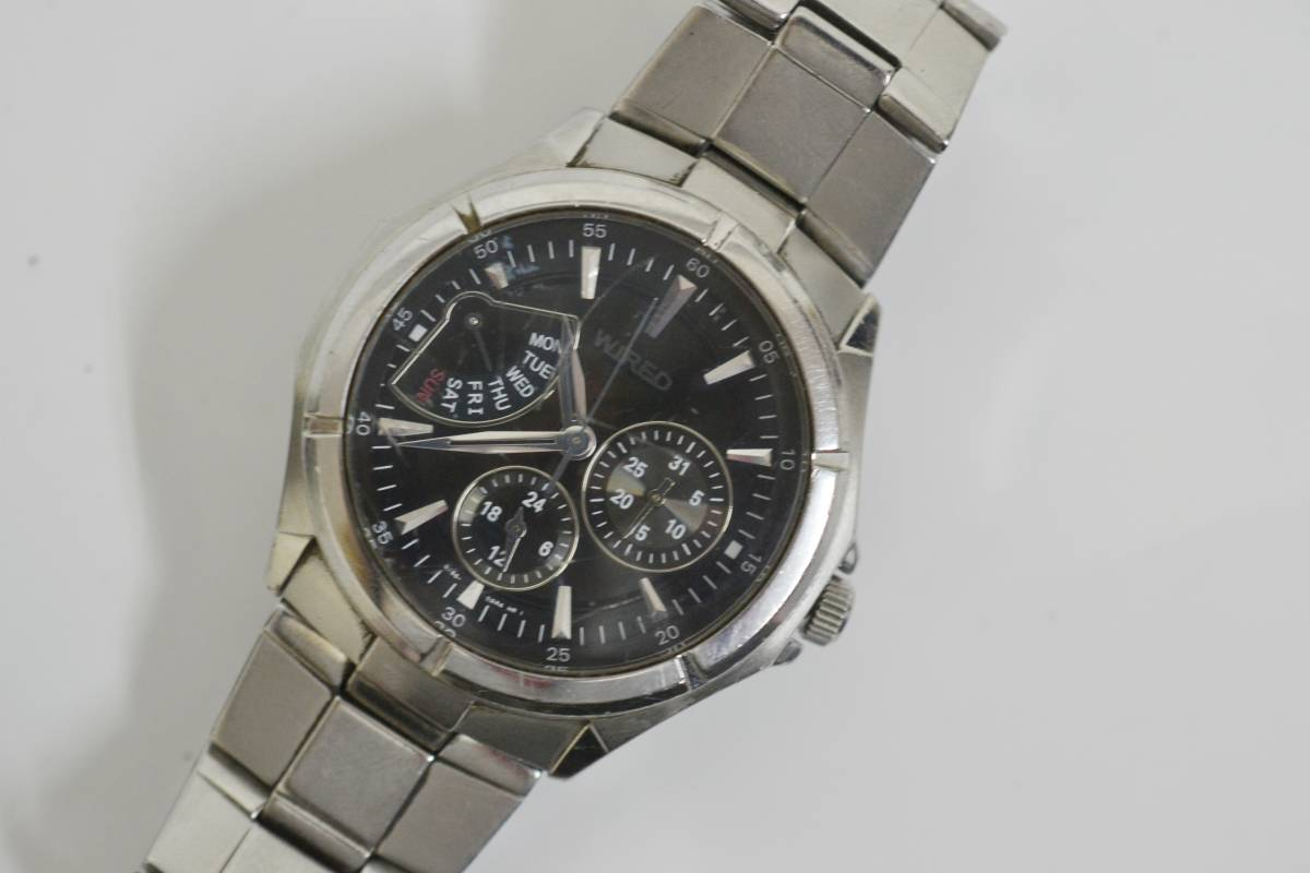 ◇◆SEIKO WIRED ワイアード クロノ 腕時計 7N0535 ジャンク_画像3