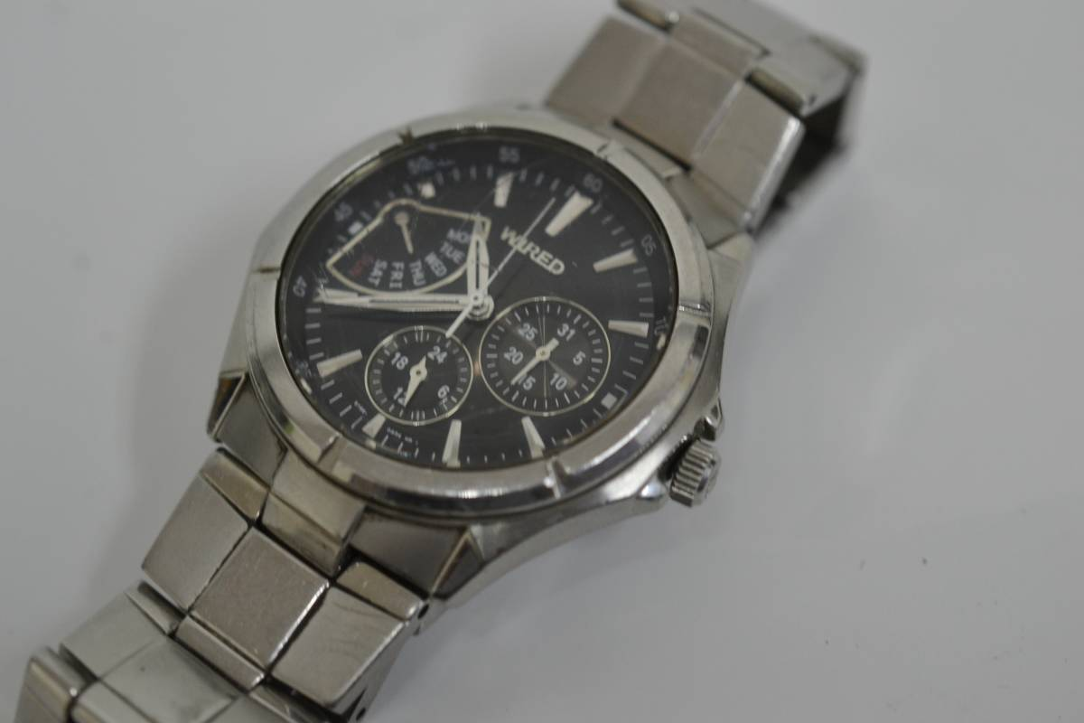 ◇◆SEIKO WIRED ワイアード クロノ 腕時計 7N0535 ジャンク_画像4