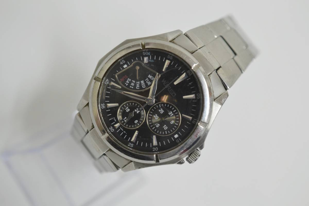 ◇◆SEIKO WIRED ワイアード クロノ 腕時計 7N0535 ジャンク_画像8