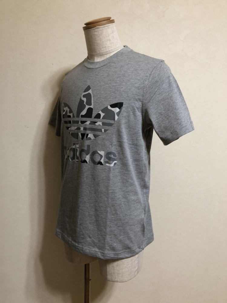 【新品】 adidas originals CAMO TREF TEE アディダス オリジナルス トレフォイル ロゴ カモフラ Tシャツ サイズM 半袖 DH4766 グレー_画像6