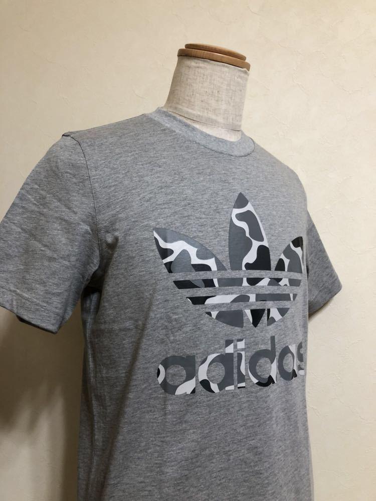 【新品】 adidas originals CAMO TREF TEE アディダス オリジナルス トレフォイル ロゴ カモフラ Tシャツ サイズM 半袖 DH4766 グレー_画像9