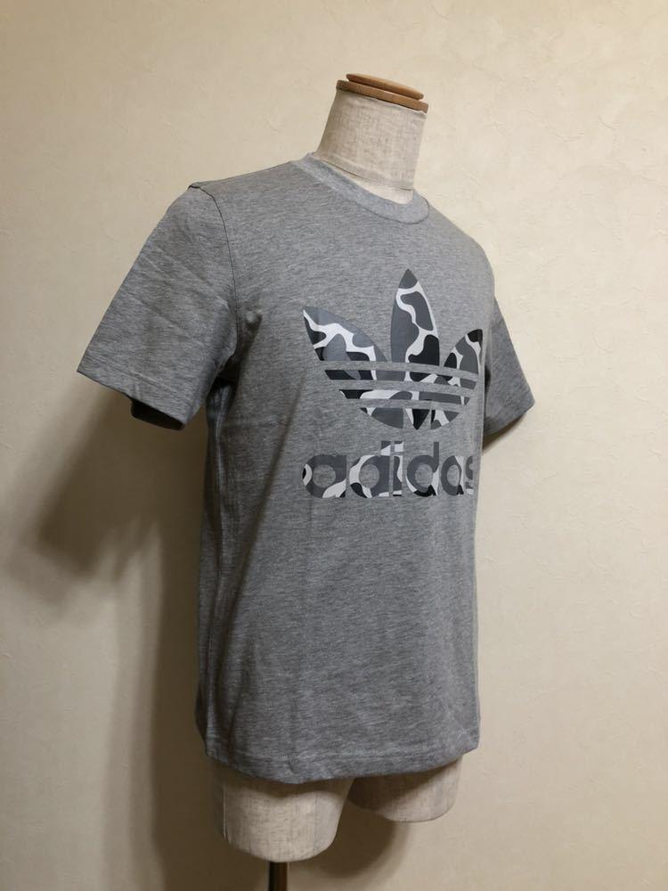 【新品】 adidas originals CAMO TREF TEE アディダス オリジナルス トレフォイル ロゴ カモフラ Tシャツ サイズM 半袖 DH4766 グレー_画像7
